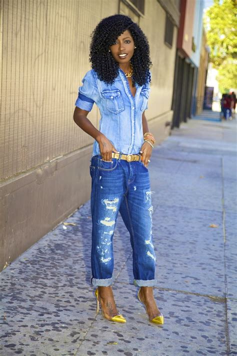 Would You Wear An All Denim Like On Project Runway Last how to wear denim on denim protect your glow