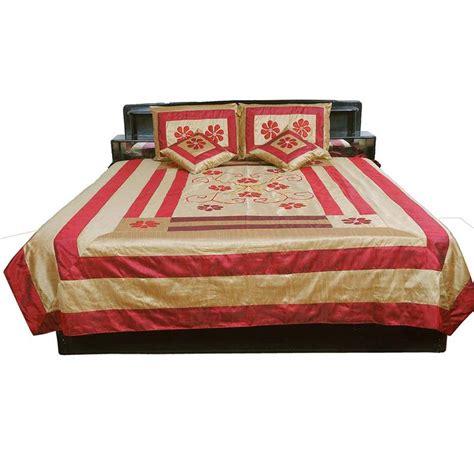Maroon Bed Covers Buy Jaipuri 5 Pc Maroon Silk Bed Cover