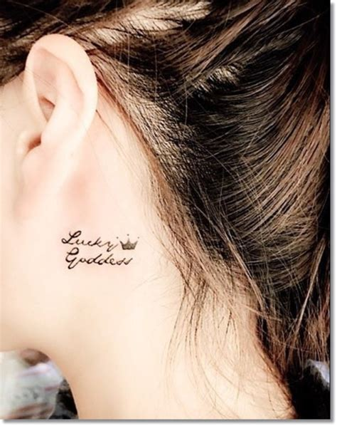 small neck tattoos for women 57 adorable crown neck tattoos