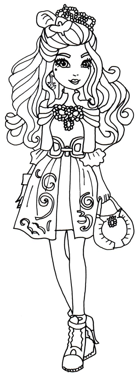 ever after high coloring pages poppy o hair free printable ever after high coloring pages darling