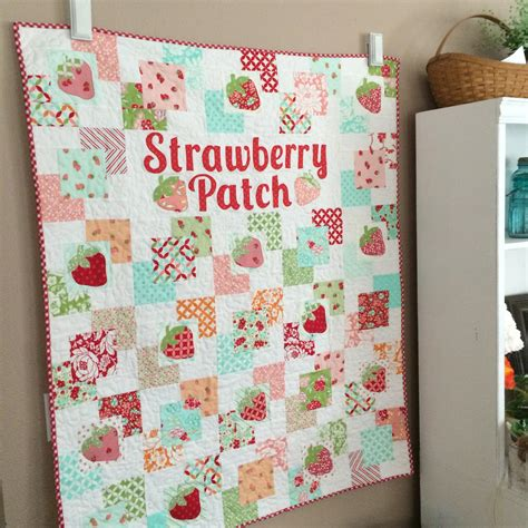 Hello Quilt by Strawberry Patch Quilt Pattern Featuring Hello By