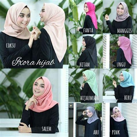 Jilbab Syari Instan Kerudung Khimar Tabur Mutiara jual langsung pakai salwa mutiara jilbab instan