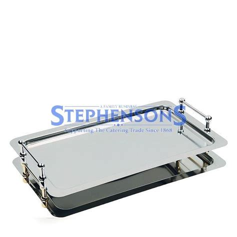 stainless steel buffet trays stainless steel 1 1 stacking buffet tray with handles 53x32 5cm stephensons