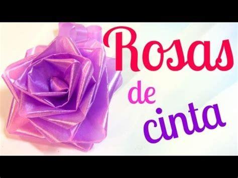 vomo hacer flores en cinta de agua c 243 mo hacer rosas de cinta lazos mo 241 os para regalo