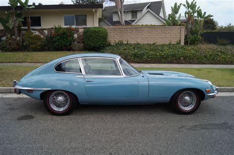 what color is a jaguar 1970 jaguar e type xke 2 2 coupe in striking light blue