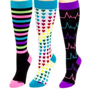 colorful compression socks for nurses lish 15 25mmhg graduated compression socks for