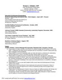 sle resume for hr generalist corporate human resources manager resume