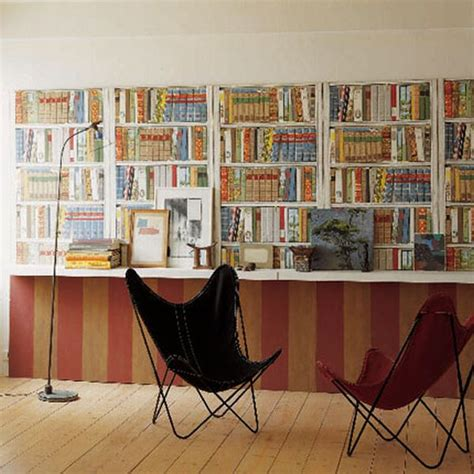 bookshelf printed wallpaper that lets you an