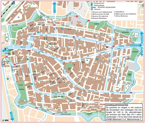 map of the city of leiden city center map