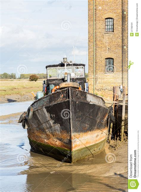 old house boat old sailing barge house boat at faversham kent stock image