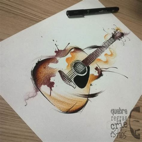 tattooed heart guitar tutorial de 25 bedste id 233 er til guitar drawing p 229 pinterest