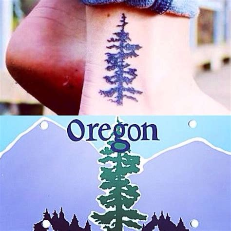 douglas fir tattoo cool oregon wouldnt put it on my ankle though