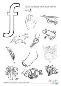 color that starts with f initial letter colouring pages