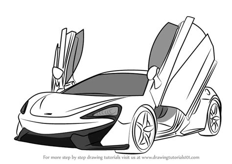 mclaren drawing learn how to draw mclaren 570s sports cars by