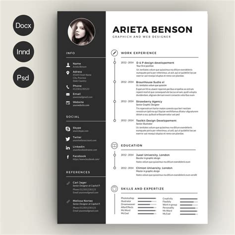 28 Minimal Creative Resume Templates Psd Word Ai Free Download Premium Templateflip Clean Resume Template