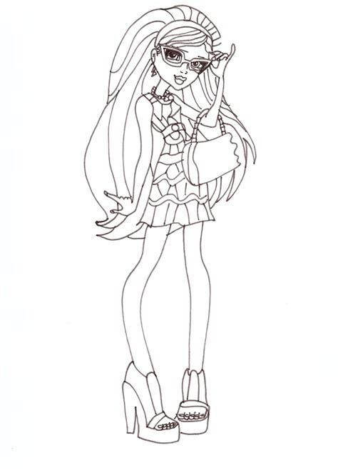 monster high coloring pages sweet 1600 free printable monster high coloring pages ghoulia