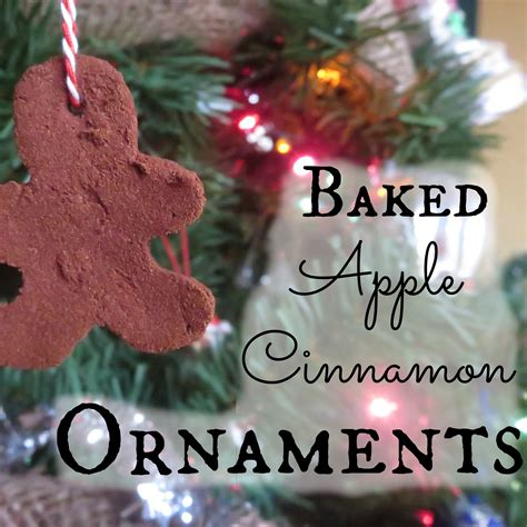 baked apple cinnamon christmas ornaments