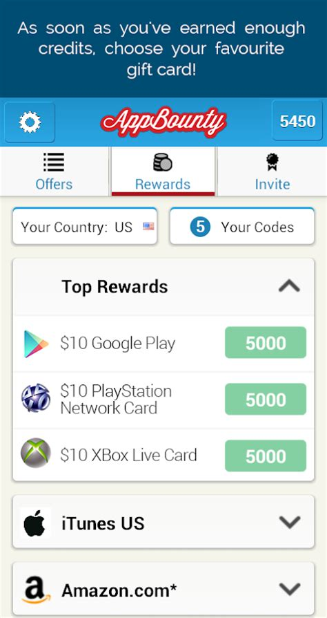 How To Earn Amazon Gift Cards On Android - appbounty free gift cards android apps on google play