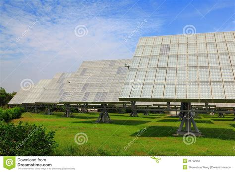 solar panel with green grass stock photo image 21772362