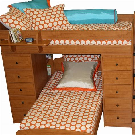 bunk bed huggers quot cano quot pumpkin dot bunk bed hugger fitted comforter