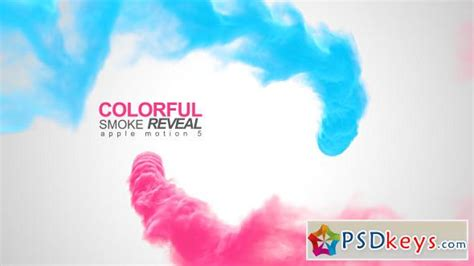 smoke template after effects download colorful smoke reveal apple motion after effects