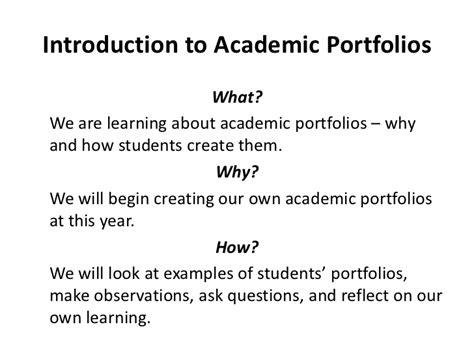 introduction to academic portfolios