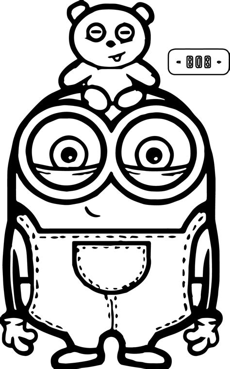coloring pages cute minions cute bob and bear minions coloring page minions