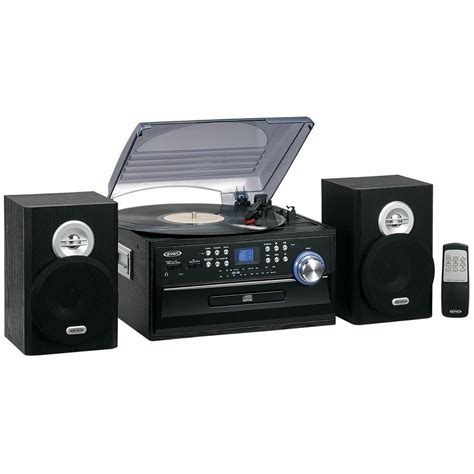 cassette cd radio player new 3 speed home stereo cd record cassette player