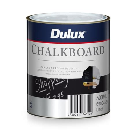 chalk paint at bunnings dulux 500ml black design chalkboard paint bunnings warehouse