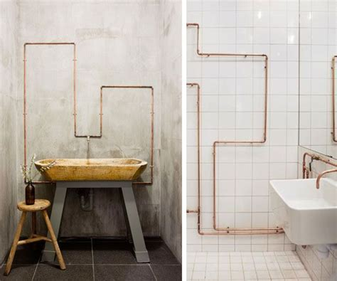 Exposed Bathroom Plumbing 17 Best Images About Exposed Pipes On Pinterest Copper Industrial And Pipe Decor