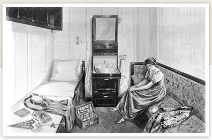 number bed sinks in the middle titanic 2nd class single berth stateroom