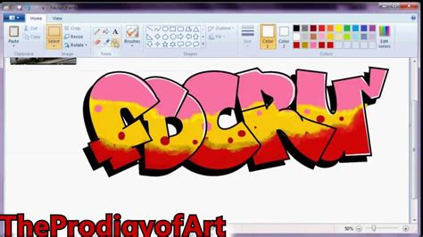 youtube membuat graffiti speed art graffiti ms paint youtube