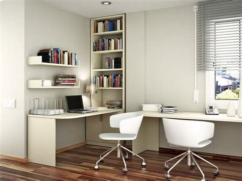 Study L White Swivelchairs Grey Windows Blinds Student Desk