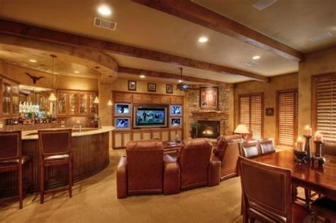 home bar with wide screen tv decor and design i