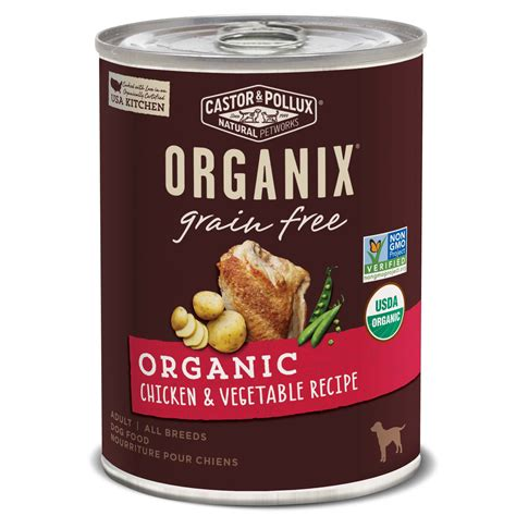 puppy food petco castor pollux organix grain free organic chicken vegetable recipe food petco