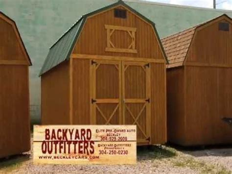 backyard outfitters inc backyard outfitters inc locally built storage buildings