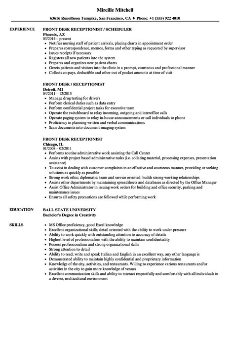resume examples for receptionist unforgettable receptionist