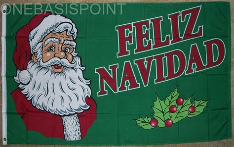 feliz navidad flag merry christmas banner santa claus holiday pennant  ebay