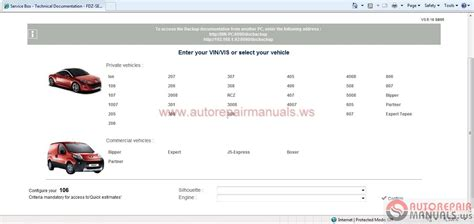 Free Auto Repair Manual Peugeot Service Box Sedre 11