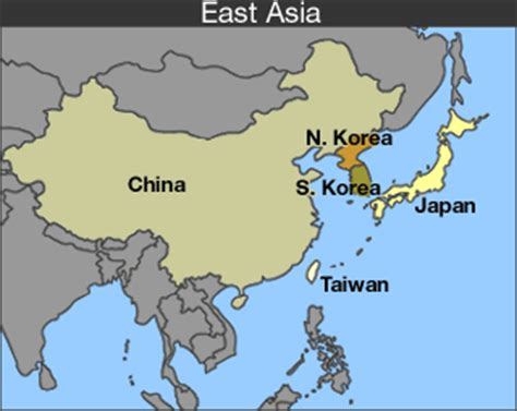east asia map with country names cnn