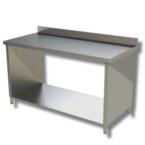tavolo da lavoro in acciaio ristopro tavolo da lavoro in acciaio su fianchi cod 5124