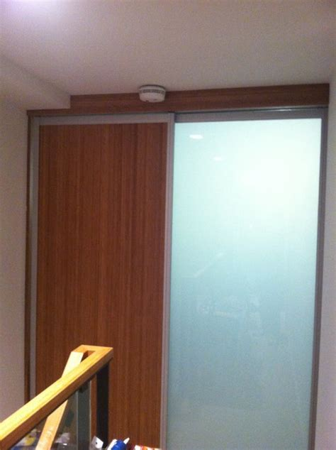 bamboo frosted glass sliding door contemporary