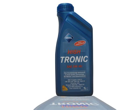 Aral High Tronic 5w 40 1 Liter 1 aral high tronic 5w 40 1 liter b f schmierstoff gmbh