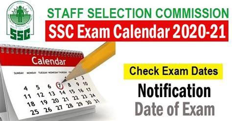 ssc exam calendar   released timetable
