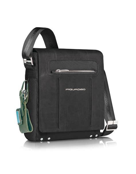 piquadro link vertical messenger bag in black for lyst