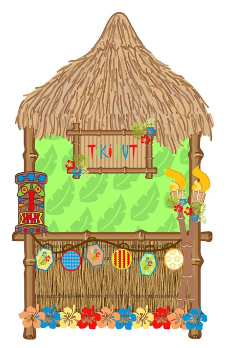 Tiki Hut Clipart by Tiki Hut Clipart With 69 Items