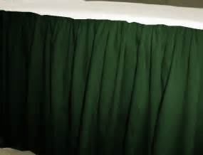 Kitchen Tier Curtains Sets by Solid Dark Forrest Green Colored Bedskirt In All Sizes