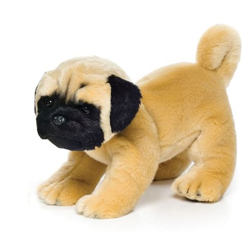 stuffed pug lifelike pug stuffed animal nat jules stuffed safari