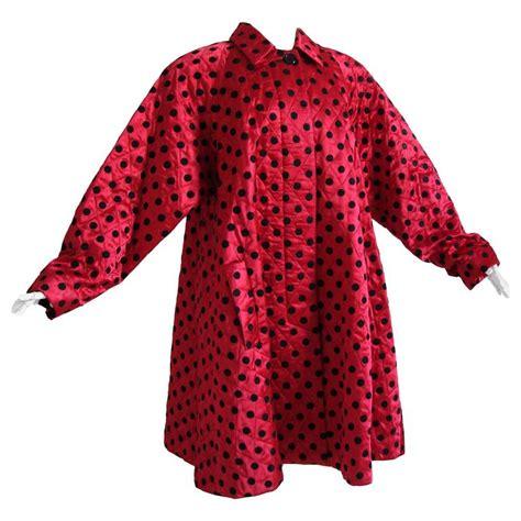 Couture At Its Bestaepink Polka by Christian Polka Dot Evening Coat Voluminous Silk