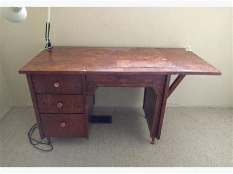 desk with side vintage solid wood 3 drawer sewing table desk with fold